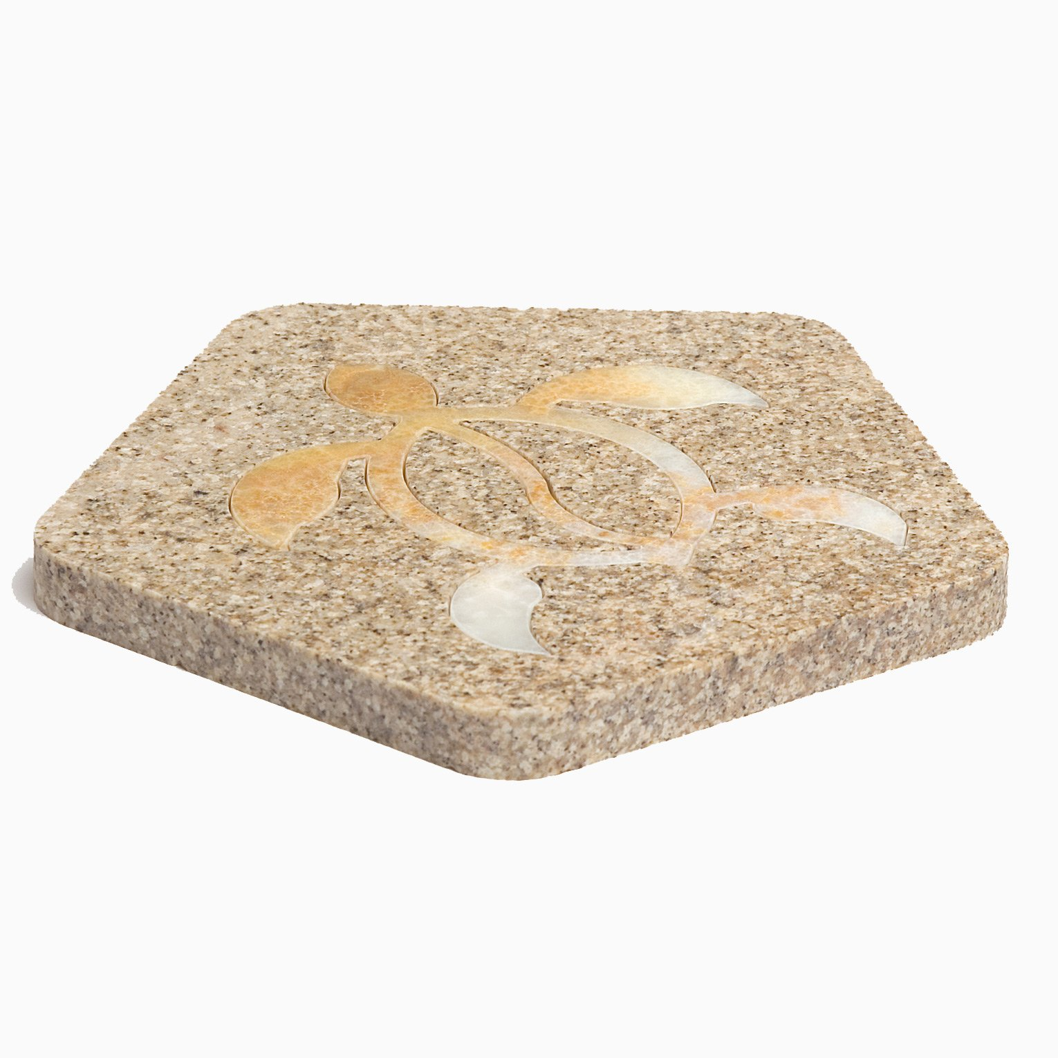 stone with turtle shape insert