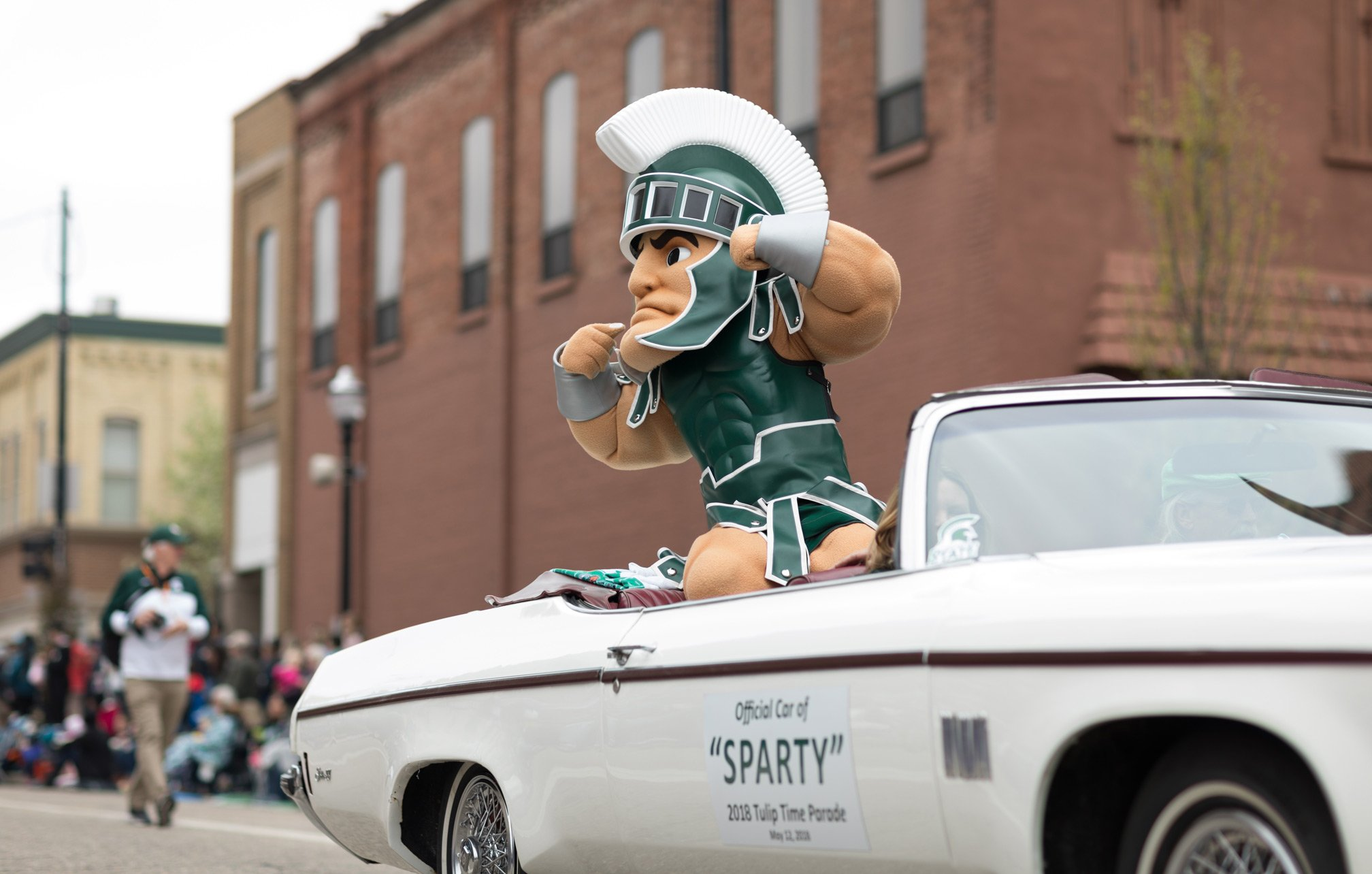 sport mascot in car for retail and consumer applications